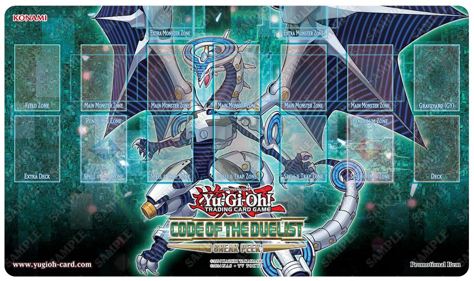 Tapete del torneo oficial de Yu-Gi-Oh! o Yugioh! de la colección código del duelista en Vitoria