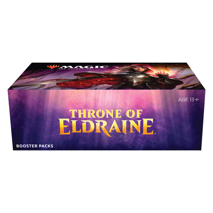 "Caja de sobres ""trono de Eldraine Magic the gathering"""